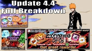 NEW SOUL REAPER CHALLENGE, EVENTS AND MORE | Update 4.4 Breakdown | Bleach Brave Souls
