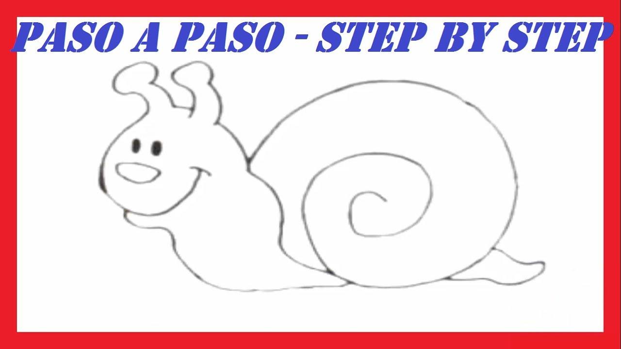 Como dibujar un Caracol l How to draw a Snail - YouTube