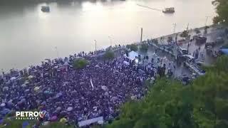 monteria humana se convierte en rios de gente