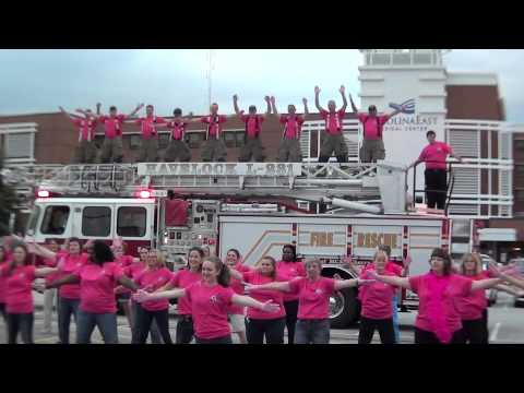 CarolinaEast and Havelock Fire and Rescue Pink Glove Dance 2013