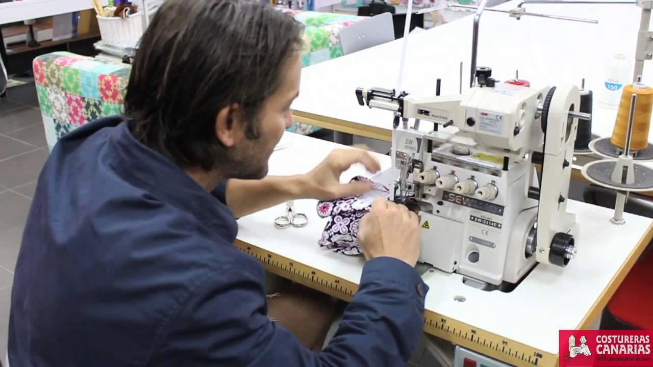 como hacer un bañador con maquina de coser industrial y