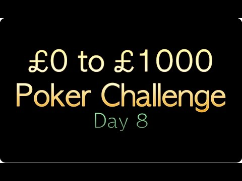 SharpPoker | £0 to £1000 UniBet Poker Challenge | Day 8