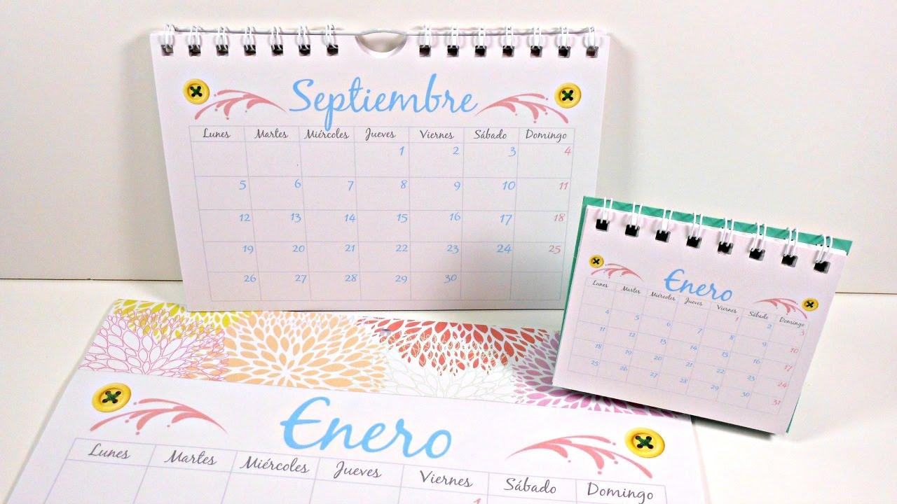 C mo hacer tu propio calendario parte 2 calendarios - Como hacer tu propio calendario ...