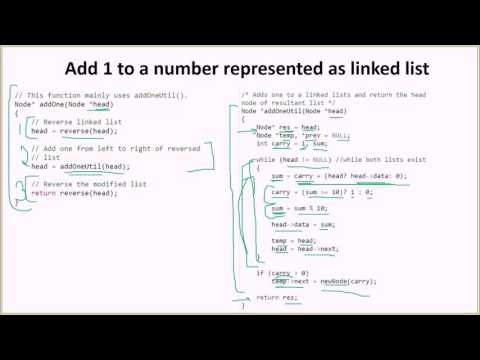 Add 1 to a number represented as linked list | GeeksforGeeks