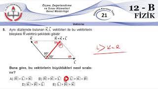12B MEB Okul Kursu Fizik K.K.Testi 21(Vektörler)