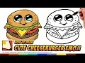 How to Draw Cute Food - Cheesburger - Draw a Cartoon Cheesburger Step Step | BP