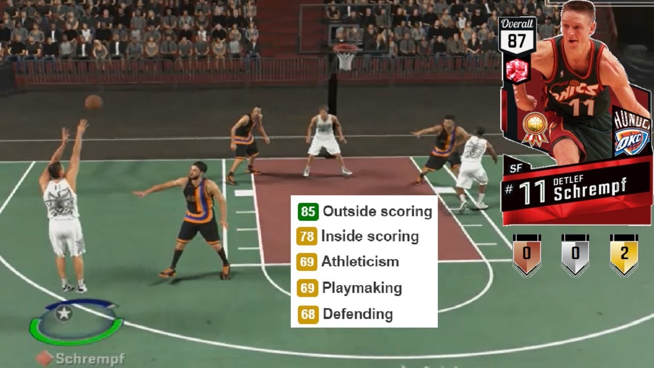 NBA 2K17 Ruby Detlef Schrempf Gameplay & Stats MyTeam Blacktop