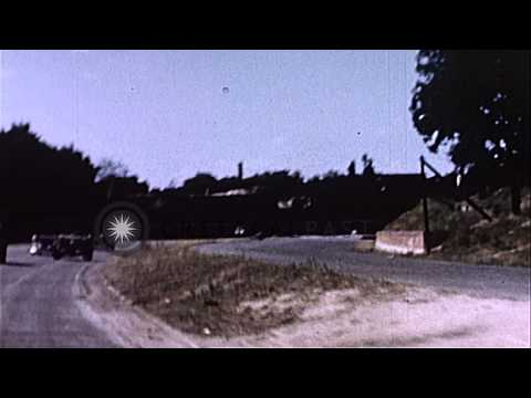 Motorcade of President Harry Truman of United States on the road to Berlin for a ...HD Stock Footage