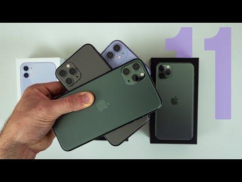 IPhone 11, 11 Pro & 11 Pro Max Unboxing & Comparison!