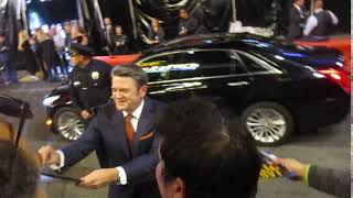 John Michael Higgins signing autographs at Pitch Perfect 3 premiere