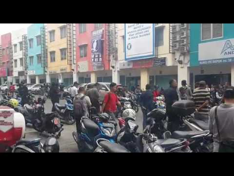 rencana sweeping kelompok ormas yang kumpul di ITC Depok, dibubarkan Jaguar Polisi Depok, Kamis sore