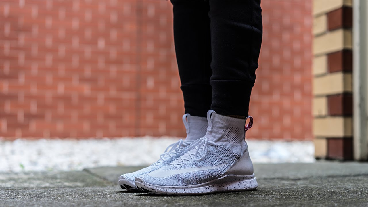 Nike Free Flyknit Mercurial White On Feet Review! - YouTube
