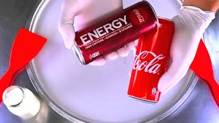 Coca-Cola Energy Drink Ice Cream Rolls | Ice Cream and Coca Cola Coke Energy like Monster & Red Bull
