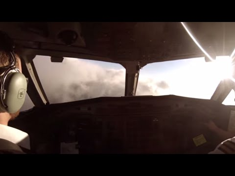 GoPro on a pilot. Take off in bad weather over Scotland.