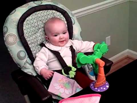 Laughing Baby Lila in Graco DuoDiner highchair