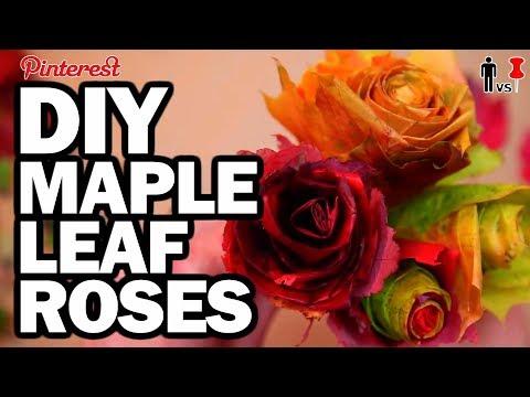 DIY Maple Leaf Roses - Man Vs Pin #102