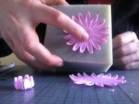 How To Make A Gerbera Flower From Fondant Youtube