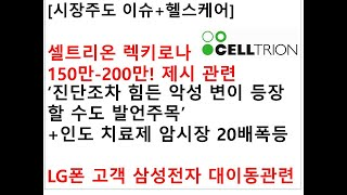 [시장주도 이슈+헬스케어]셀트리온 렉키로나 150만-2…