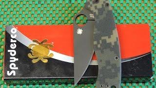 Spyderco Paramilitary 2 Camo G-10 Knife  C81GPCMOBK2