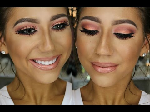 Morphe Brushes First Impression/Tutorial! Breast Cancer Awareness | Wearable Pink ! (Palette Series)