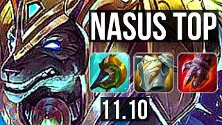NASUS vs VAYNE (TOP) | 1200+ games, 19/3/12, 6 solo kills, 1.7M mastery | EUW Master | v11.10