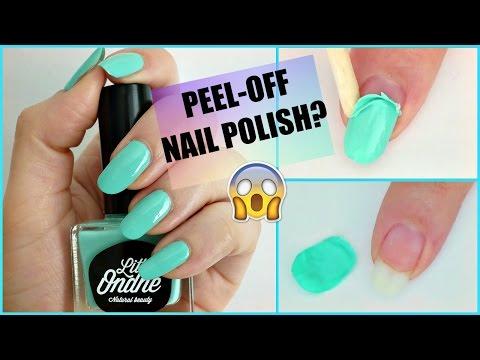 What? Natural Peel Off Nail Polish!?