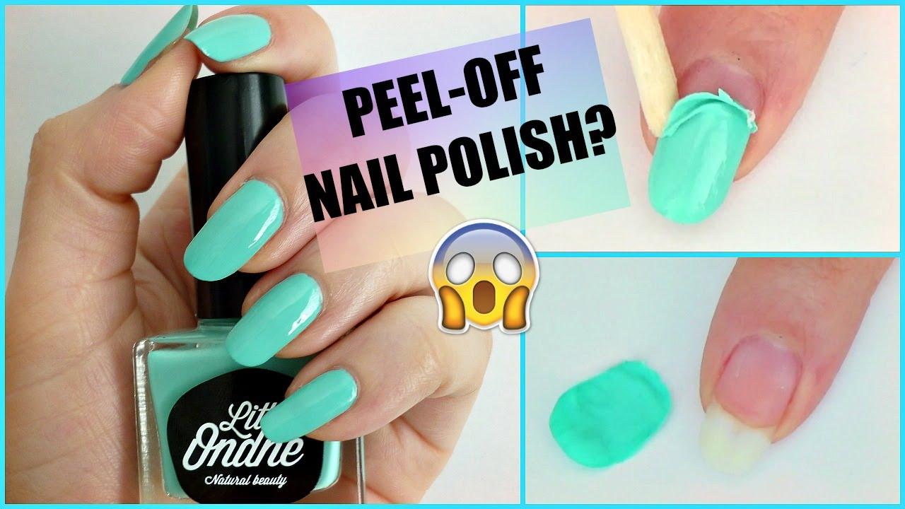 What? Natural Peel Off Nail Polish!? - YouTube