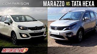 Mahindra Marazzo vs Tata Hexa Comparison | Hindi | MotorOctane