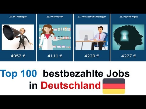 Top 100 bestbezahlte Jobs in Deutschland mit und ohne studium | 100 bestbezahlte Berufe 2020