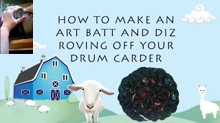 How to make roving using your drum carder by Blue Barn fiber(Hi everyone, this is Holly from Blue Barn Fiber. In this video, I will show you how to use a drum carder to make roving. Traditionally, when you use a drum carder ..., 2015-09-02T21:45:46.000Z)