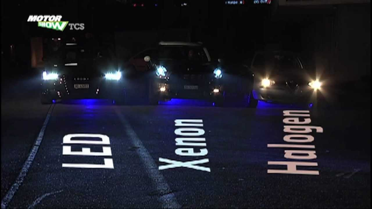 Licht-Vergleich: LED, Xenon, Halogen - YouTube