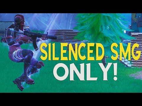 Silenced SMG Only WIN! - Fortnite Battle Royale