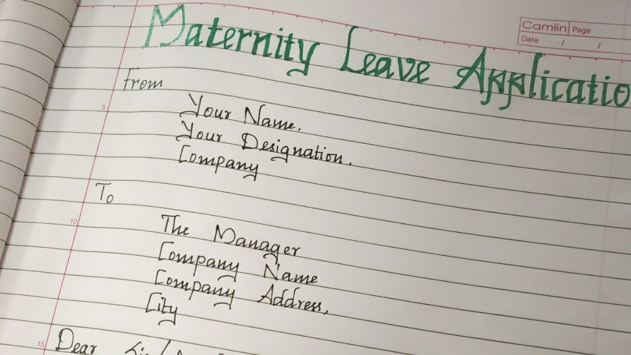 Maternity Leave Letter Writing A Letter For Maternity Leave Youtube