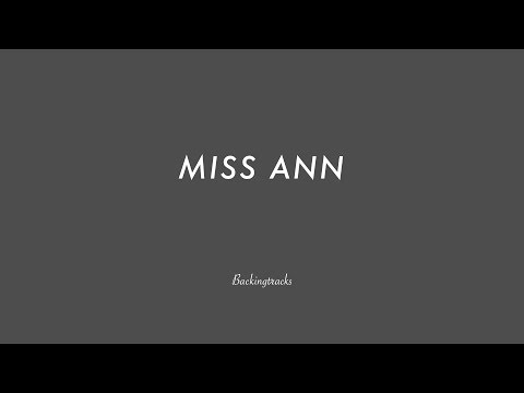Miss Ann (slow swing) - Jazz Backing Track Play Along The Real Book  atonal 110