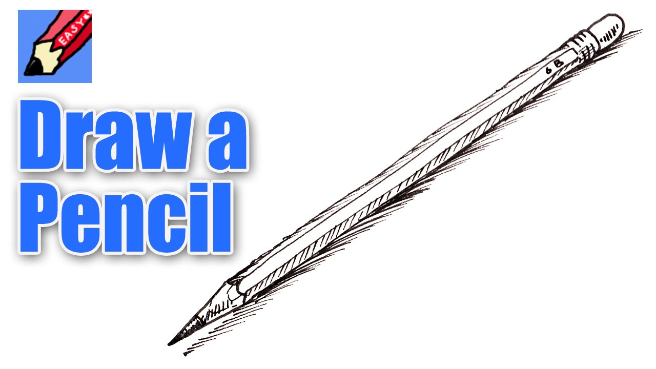 How to draw a pencil real easy youtube