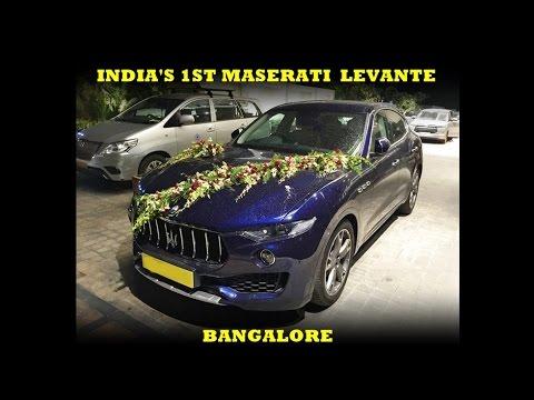 India's 1st Maserati Levante in Bangalore
