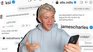 I SENT 100 YOUTUBERS A DM ASKING FOR A COLLAB!! *NOT WHAT I EXPECTED!*