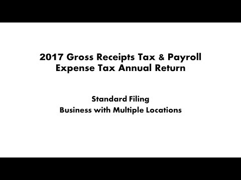 Gross Receipts And Payroll Expense Tax