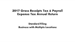 2017 Gross Receipts Tax and Payroll Expense Tax Standard Filing