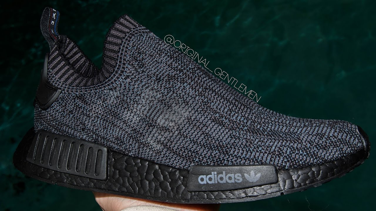 6ab57c2f0abe4 Pitch Black NMD CUSTOM  Tri-Color Stripe Removal