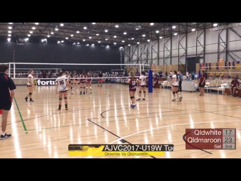 AJVC 2017 U19W Qld White Vs Qld Maroon