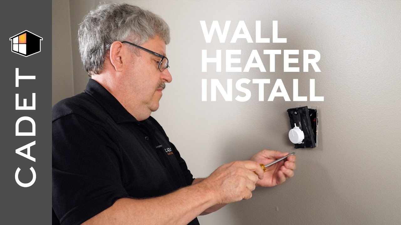 How To Install A Wall Heater With Thermostat Cadet Heat Youtube Wiring Diagram
