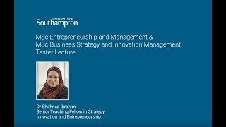 Business Strategy Innovation University Of Southampton