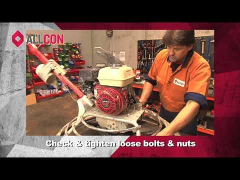 Allcon Equipment Service Part 1   Preventative Maintenance   Trowel Machine