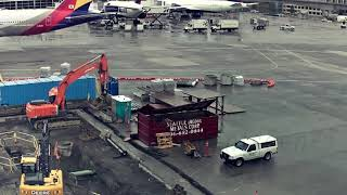 Jet Blast at SeaTac: Dollies vs. Catering Truck