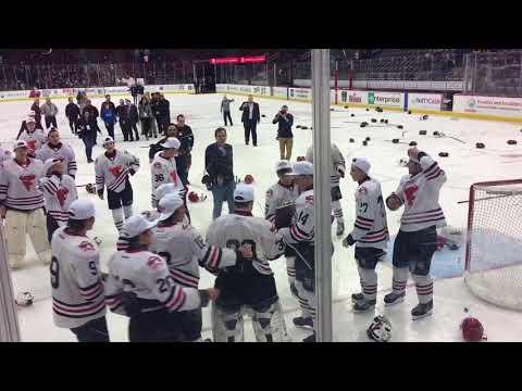 Hunterdon Central Regional High School wins the NJ Group A Ice Hockey Championship