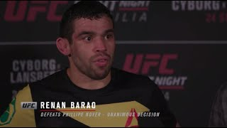 Fight Night Brasilia: Renan Barao Backstage Interview