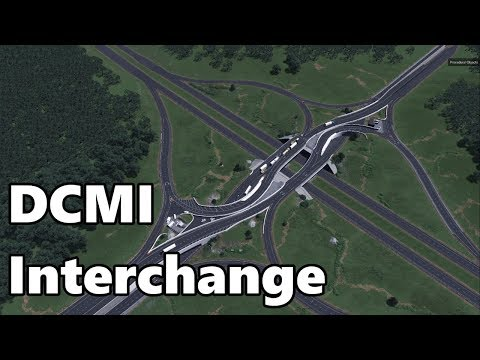 Cities Skylines Double Crossover Merging Interchange (DCMI) Build