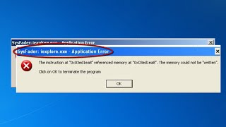 How to Fix the Sysfader iexplo…