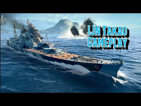 World Of Warships Blitz Gameplay - IJN Cruiser Takao
